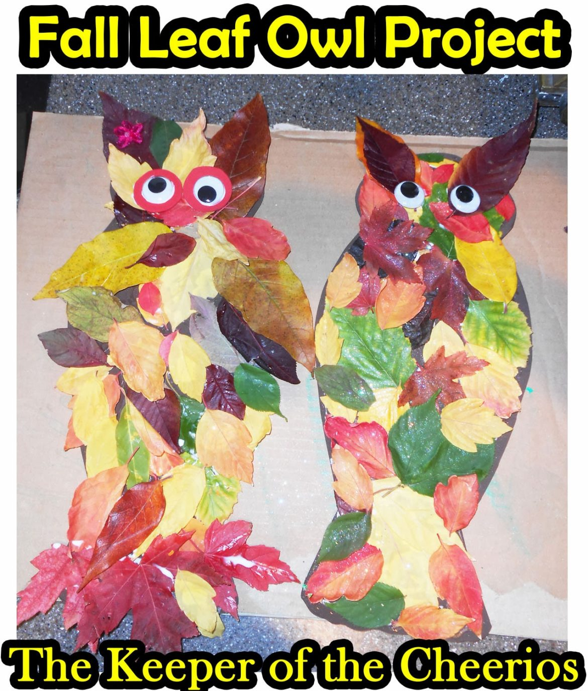 Fall Leaf Owl Craft The Keeper Of The Cheerios