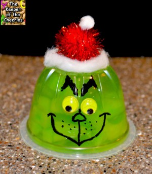 grinch fruit cup