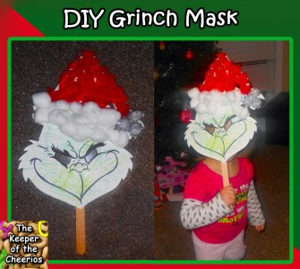 Diy Kids Grinch Mask The Keeper Of The Cheerios