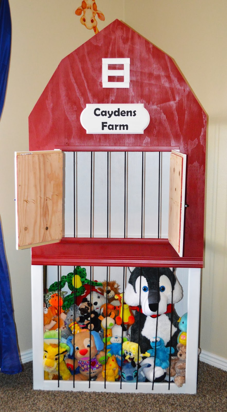 Cayden S Farm Stuffed Animal Storage Zoo The Keeper Of