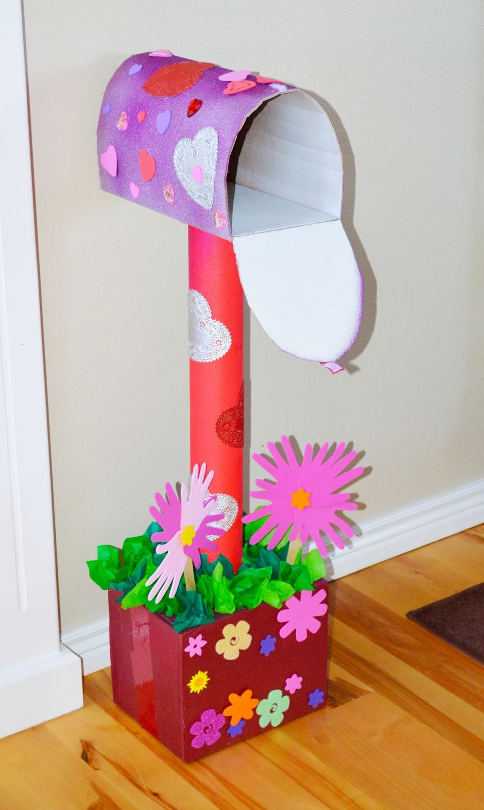Valentines Day Cardboard Mailbox DIY The Keeper Of The