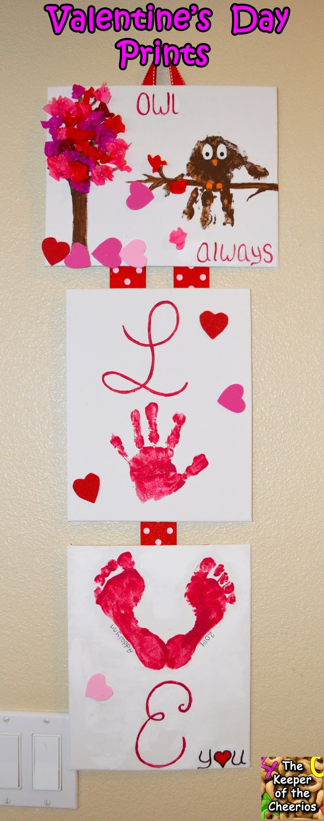 Valentines Day Hand And Footprint Craft The Keeper Of