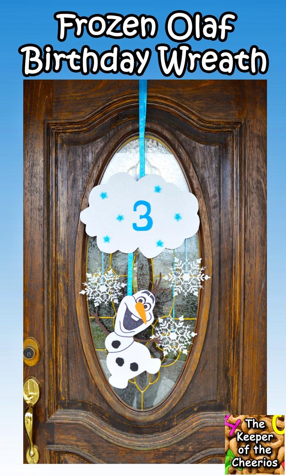 Frozen Olaf Birthday Door Wreath The Keeper Of The Cheerios