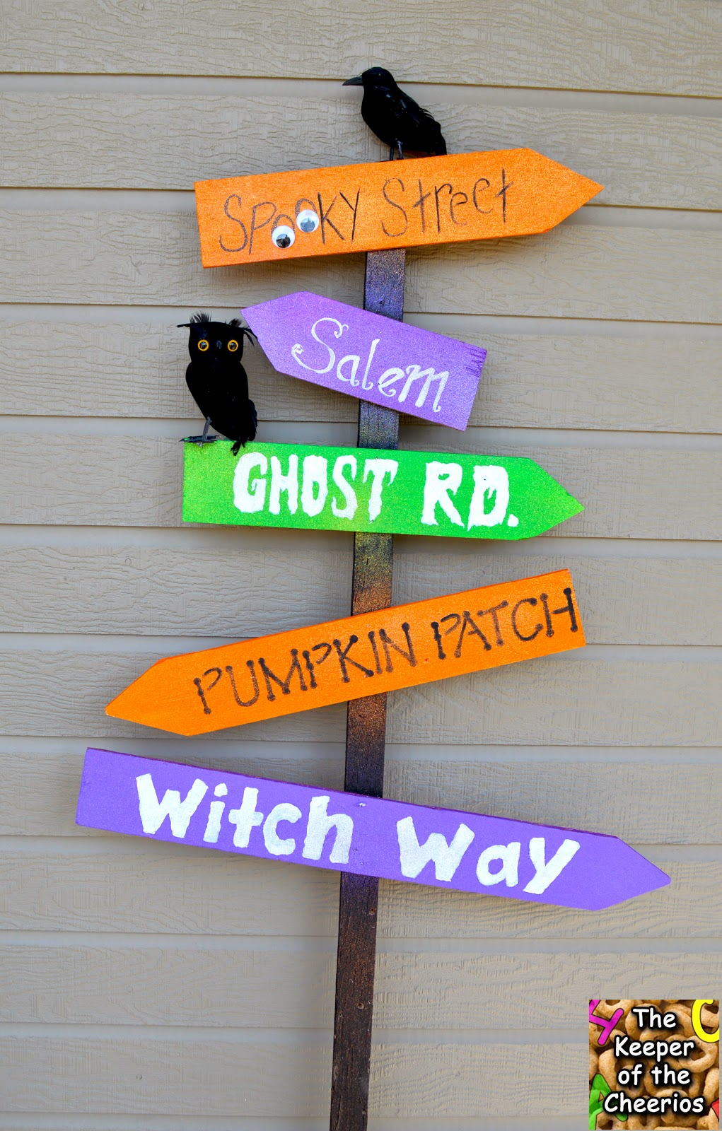 Halloween Yard Sign Made With Scrap Wood The Keeper Of