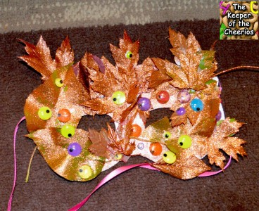fall leaf mask