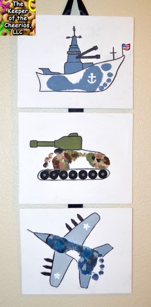 ARMY NAVY AIRFORCE FOOTPRINT CRAFT