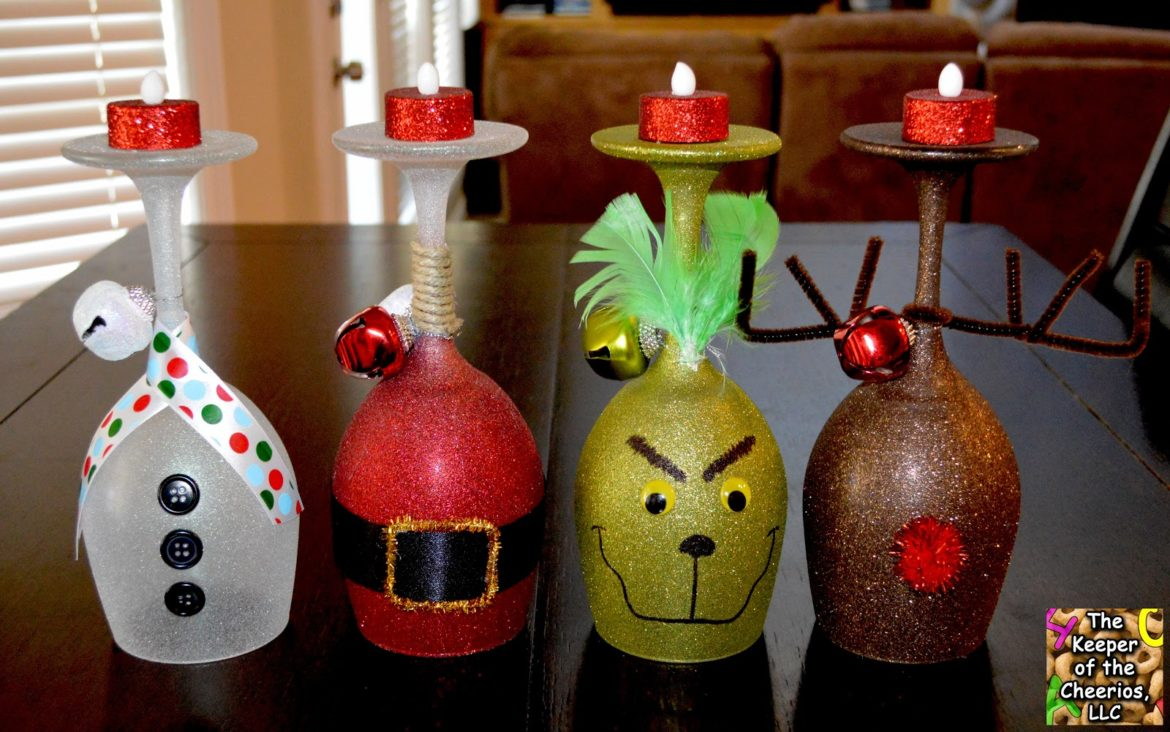 Christmas Wine Glasses Candle Holders Expanded Line The Keeper Of The Cheerios