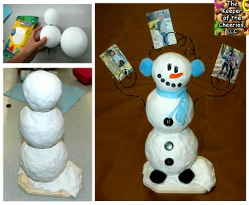 snowman picture holder