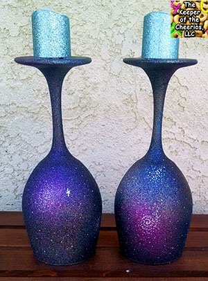galaxy blast wine glass candle holders. Black Bedroom Furniture Sets. Home Design Ideas