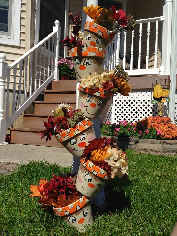 Fall And Halloween Clay Pot Ideas The Keeper Of The Cheerios
