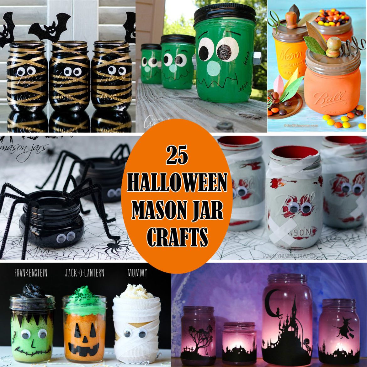 25 Halloween Mason Jar Crafts The Keeper Of The Cheerios