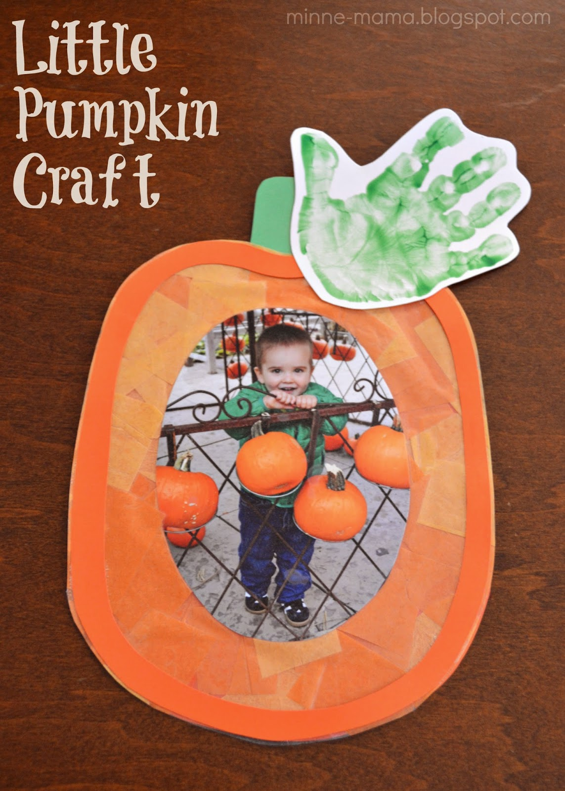 This is an image of Trust Pumpkin Crafts for Toddlers