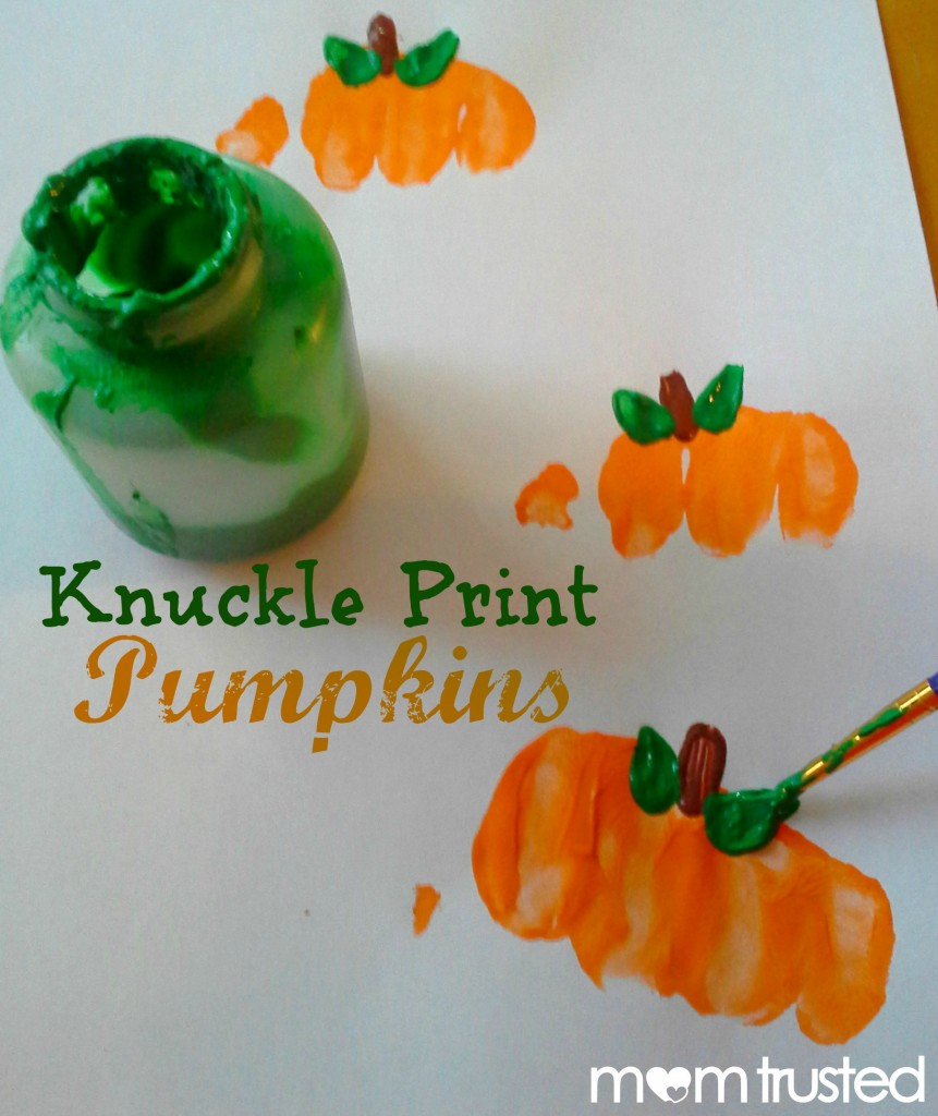 Preschool Pumpkin Project: making pumpkin prints with your knuckles 20120921 171018a1 861x1024