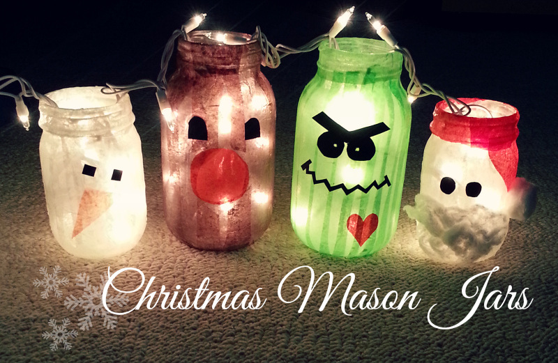 Adorable Christmas Mason Jars Tutorial