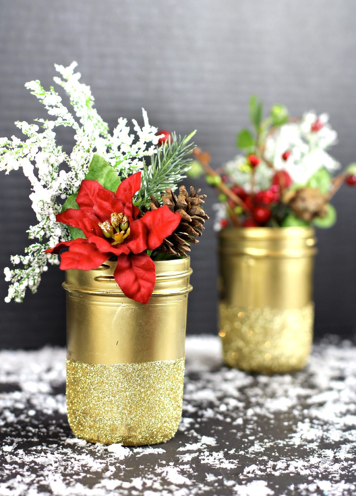 Glittered jar 3
