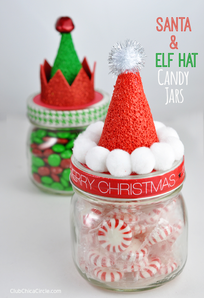 Holiday Candy Jars Homemade Gift Idea #MakeItFunCrafts