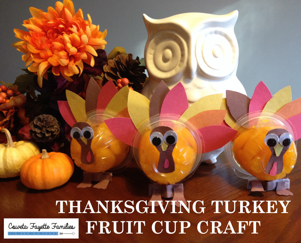 Thanksgiving Turkey Fruit Cup Craft