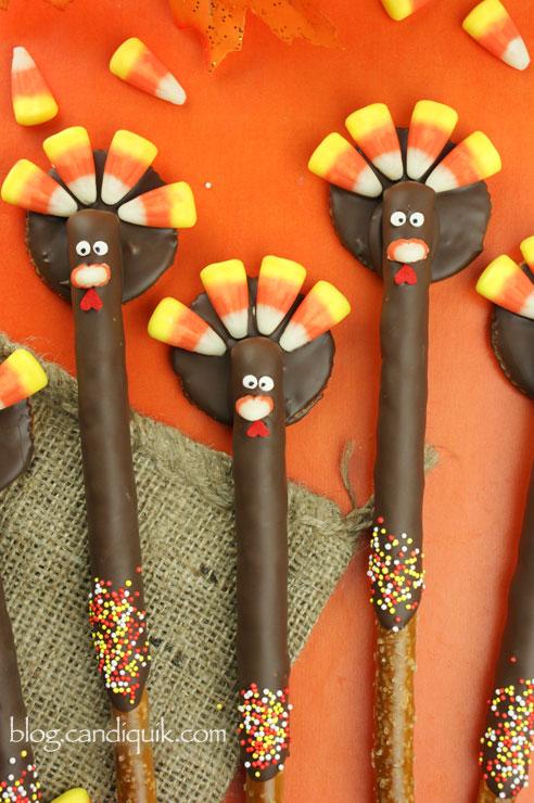 Turkey Pretzels! @candiquik