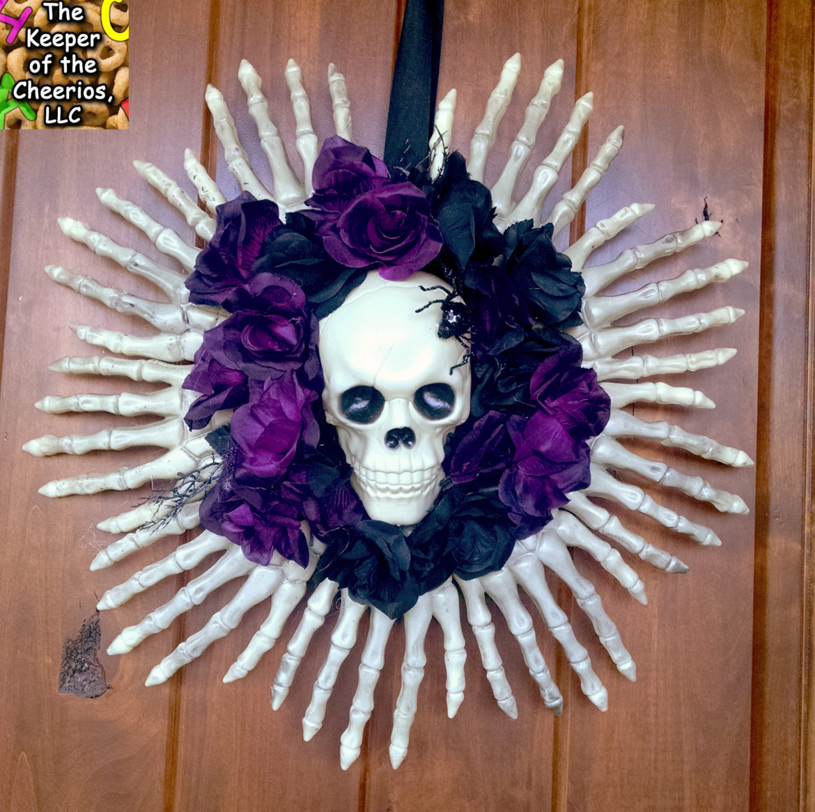 Skeleton Bones Dollar Store Wreath