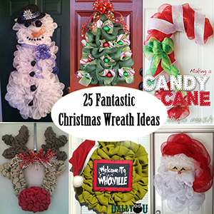 25 christmas wreath ideas sm