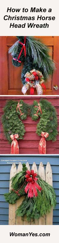 Horse Head Christmas Wreath Pictograph