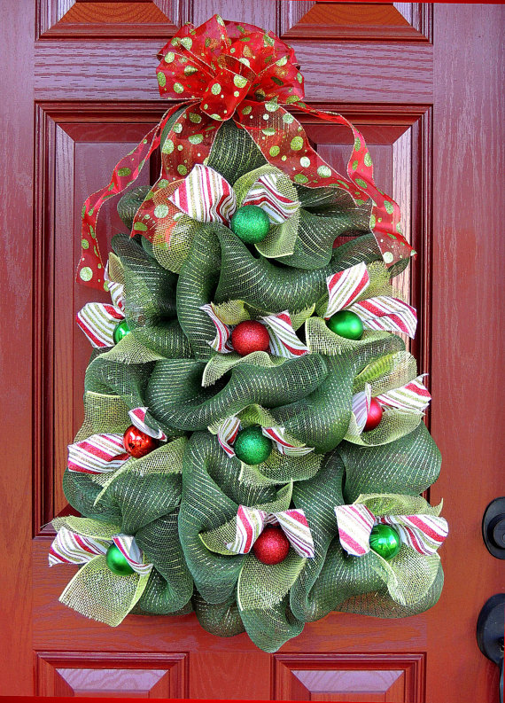 Unique christmas wreath ideas - Awesome christmas wreath with homemade style ...