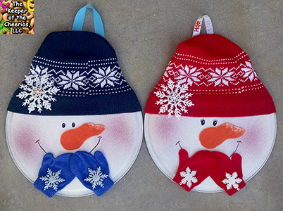 snowman pizza pan door hang sm