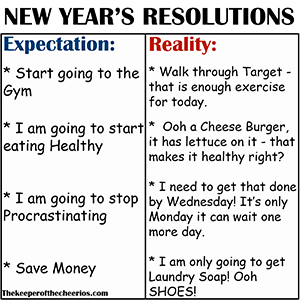 expectation vs reality new years resolution sm