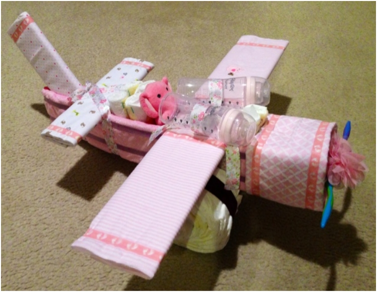Airplane-Diaper-Cake