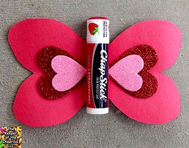 Butterfly Chapstick Valentine sm