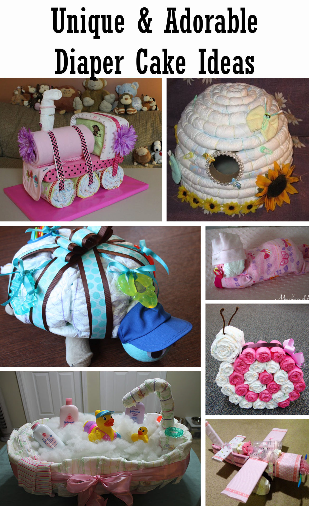 unique and adorable diaper cake ideas 2