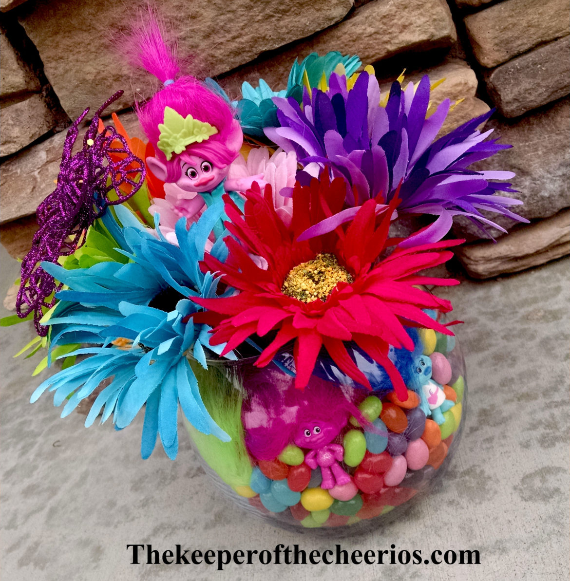 Trolls Party Centerpiece Idea The Keeper Of The Cheerios