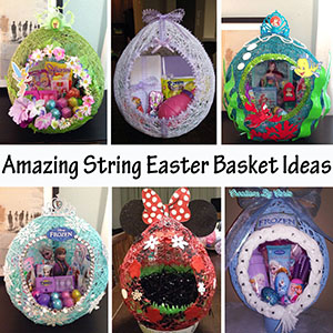 Amazing String Easter Basket Ideas sm
