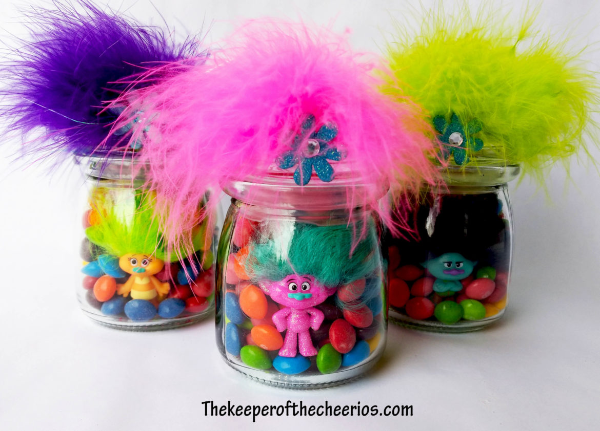 Trolls Party Favor Treat Jars The Keeper Of The Cheerios