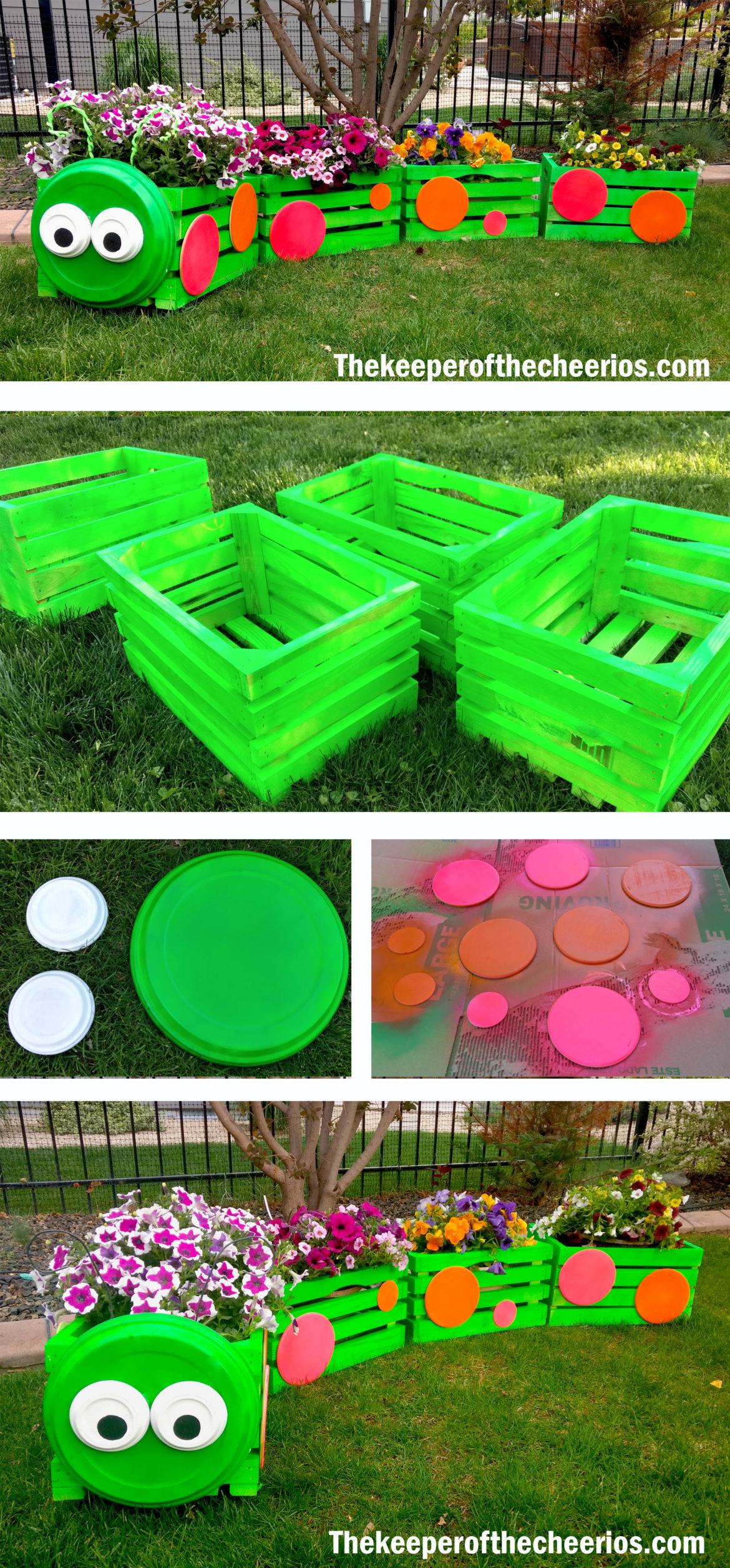 Caterpillar Crate Planter The Keeper Of The Cheerios