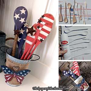 Patriotic wooden spoons sm