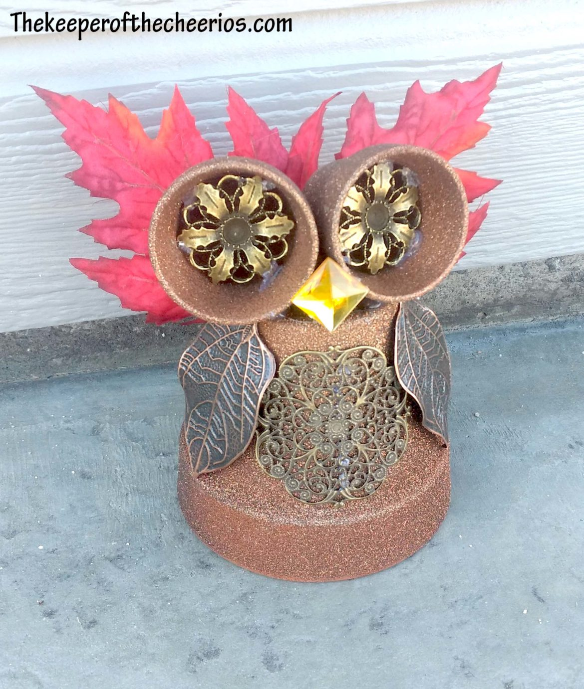 Clay Pot Owl The Keeper Of The Cheerios