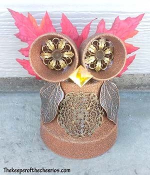 CLAY POT OWL SM