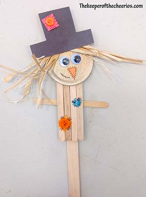 Scarecrow Popsicle Stick craft sm