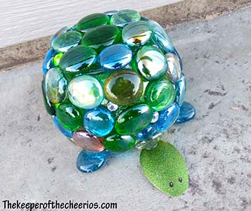 glass turtle yard art sm