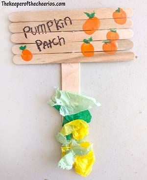 pumpkin patch popsicle stick craft sm