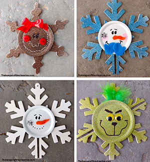 Snowflake ornaments sq smm