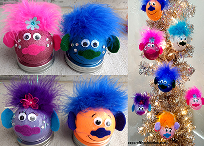 Trolls Christmas Ornaments sm