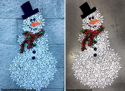 snowflake snowman sq smm