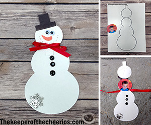 snowman keepsake card smm