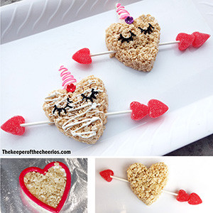 UNICORN RICEKRISPIE TREAT VALENTINES SM