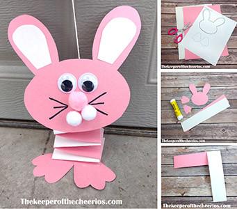 bouncing paper bunny sm