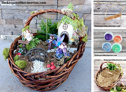 The keeper of the cheerios easter basket fairy garden tired of the same old easter baskets this is a fun way to mix up the traditional easter basket into something fun and different negle Gallery