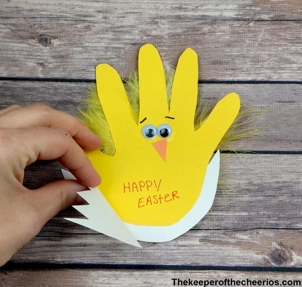 Easter Chick Handprint Card The Keeper Of The Cheerios