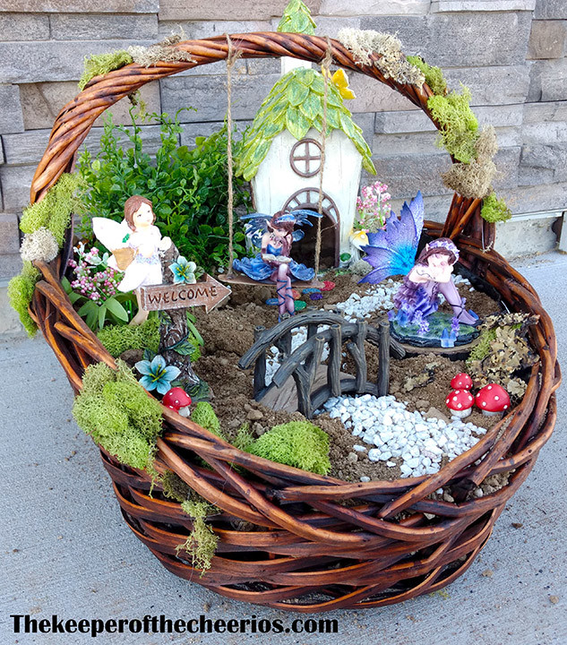 Easter Basket Fairy Garden